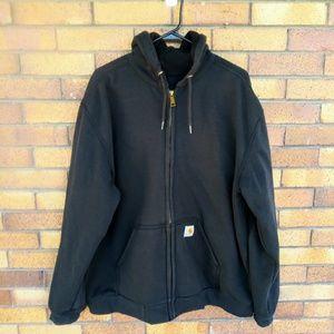 Carhartt Rutland Thermal Lined Hoodie Black Size L